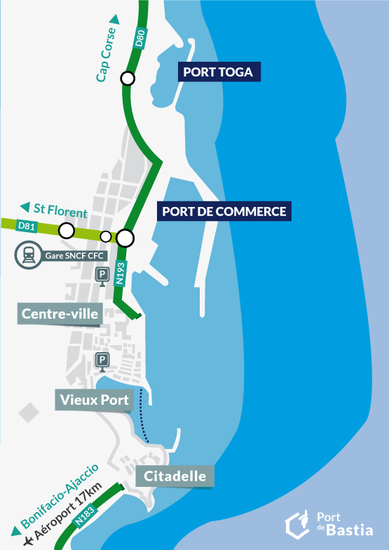 Passengers information - Port de Bastia CCI 2B